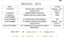 regate, 2019, cvfm, Forte dei Marmi, federvela, sailing, vela, barca a vela